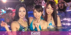 【エロ動画】水着美女との開放感あるセックス!プールナンパ!