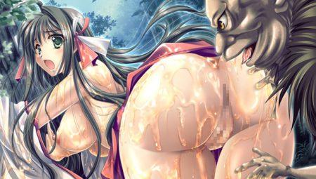 【美少女エロゲ】巫女×妖怪の凌辱レイプ!神楽シリーズ「新藤勇」「八代護」編!(紅神楽)